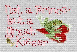 Not A Prince Post Stitches cross stitch chart with charm Sue Hillis Designs image 1