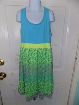 Justice Neon Leopard Animal Printed Mesh Overlay Sleeveless Tank Dress S... - $16.00