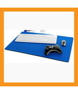 "large mouse pad 25 x15"" neoprene 6mm padded desk mat computer notebook blue - $36.00"