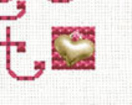 Cupcakes Post Stitches cross stitch chart with charm Sue Hillis Designs image 2