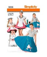 Simplicity 3836 Girls 3 to 6 Retro 50s Poodle Skirt Costume - $5.95