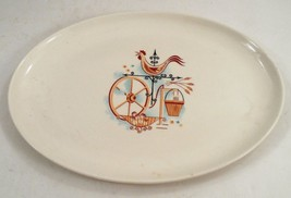"1960s Taylor Smith & Taylor TST Rooster Weathervane 13 1/2"" Serving Meat Platter - $20.44"