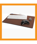 "brown large mouse pad 25 x15"" neoprene 6mm padded desk mat computer note... - $36.00"