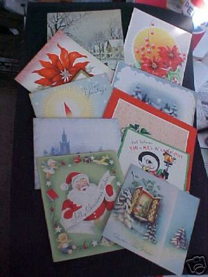 10~40-50s 4 Fold Christmas Card~Scrapbook~Most Used~#2 Bonanza