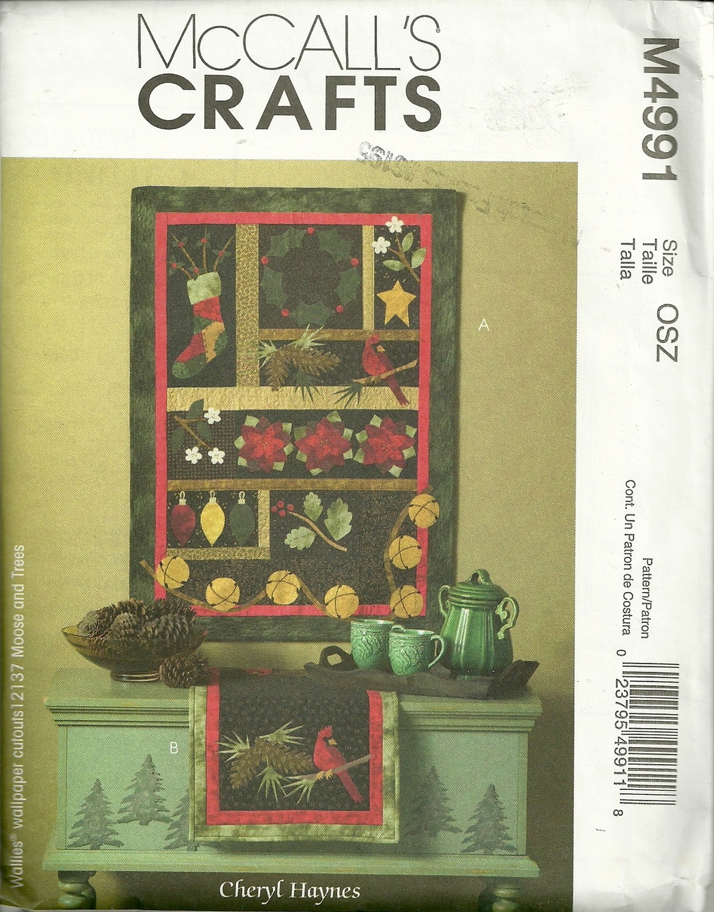 McCALL'S CRAFTS  HOLIDAY TABLE RUNNER / WALL HANGING