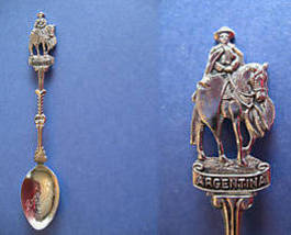 ARGENTINA Souvenir Collector Spoon Collectible GOUCHO HORSE Argentine - $6.95