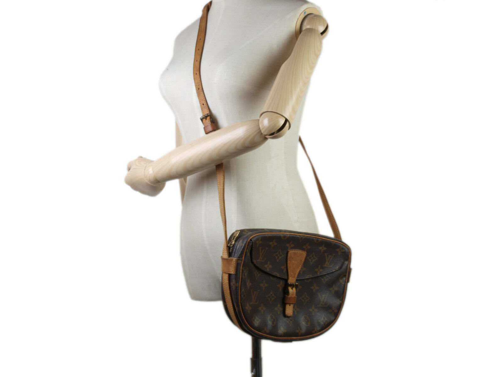 Auth LOUIS VUITTON Jeune Fille Monogram Canvas Cross-Body Shoulder Bag LS17666L