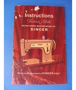 Singer  ZIG-ZAG Fashion Mate Instructions Manual MODEL 237 - $25.00