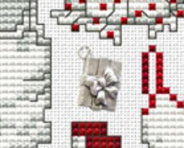 Believe Post Stitches cross stitch chart with charm Sue Hillis Designs image 2