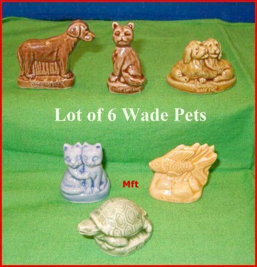 Lot of 6 Wade  Pet Shop Friends From Red Rose Tea