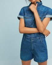 Anthropologie Reiko Catline Denim Romper Sz XS - NWT - $84.99