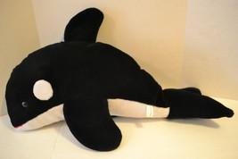 "Sea World Orca Whale Stuffed Plush Shamu Large 30"" Black White - $17.99"
