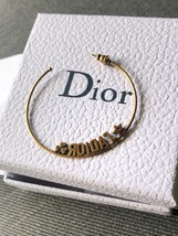 SALE* AUTHENTIC Christian Dior 2019 J'ADIOR Star Hoop Earrings Aged Gold image 6