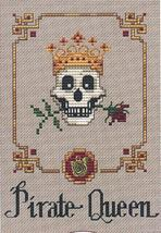 Pirate Queen Post Stitches cross stitch chart with charm Sue Hillis Designs image 1