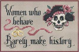 Women Who Behave Post Stitches pirate cross stitch with charm Sue Hillis Designs image 1