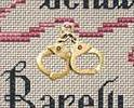 Women Who Behave Post Stitches pirate cross stitch with charm Sue Hillis Designs image 2