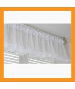 white beads valance curtain sheer window kitchen waverly drape bedroom 5... - $18.50