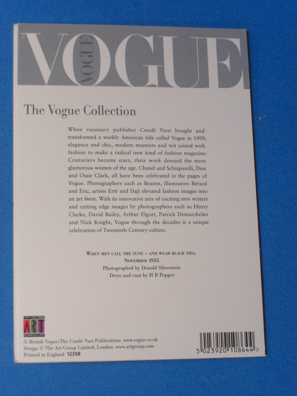 When Men Call The Tune 1955 The Vogue Collection Note Card