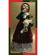 Victorian CAROLER DOLL by BYERS' Choice Ltd - Retired - FREE SHIPPING - $50.00
