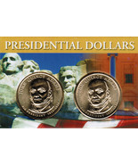 2008 John Quincy Adams Presidential Dollar 2 coin set with holder CP4205 - $4.67