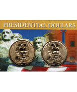 2008 Andrew Jackson Presidential Dollar 2 coin set with holder CP4206 - $4.75