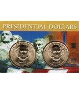 2008 Martin Van Buren Presidential Dollar 2 coin set with holder CP4207 - $4.75