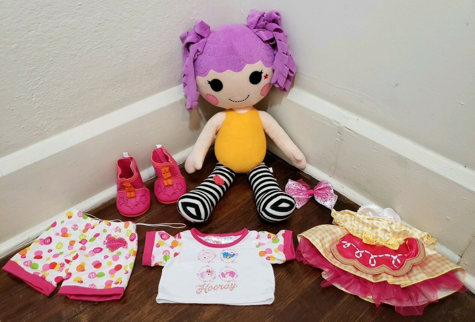 Build a Bear BABW Lalaloopsy Peanut Big Top Doll Plush and Outfits 20""
