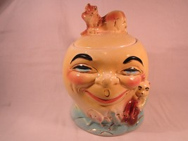 Vintage CERAMIC ROSEVILLE Cookie Jar COW JUMPED... - $52.80