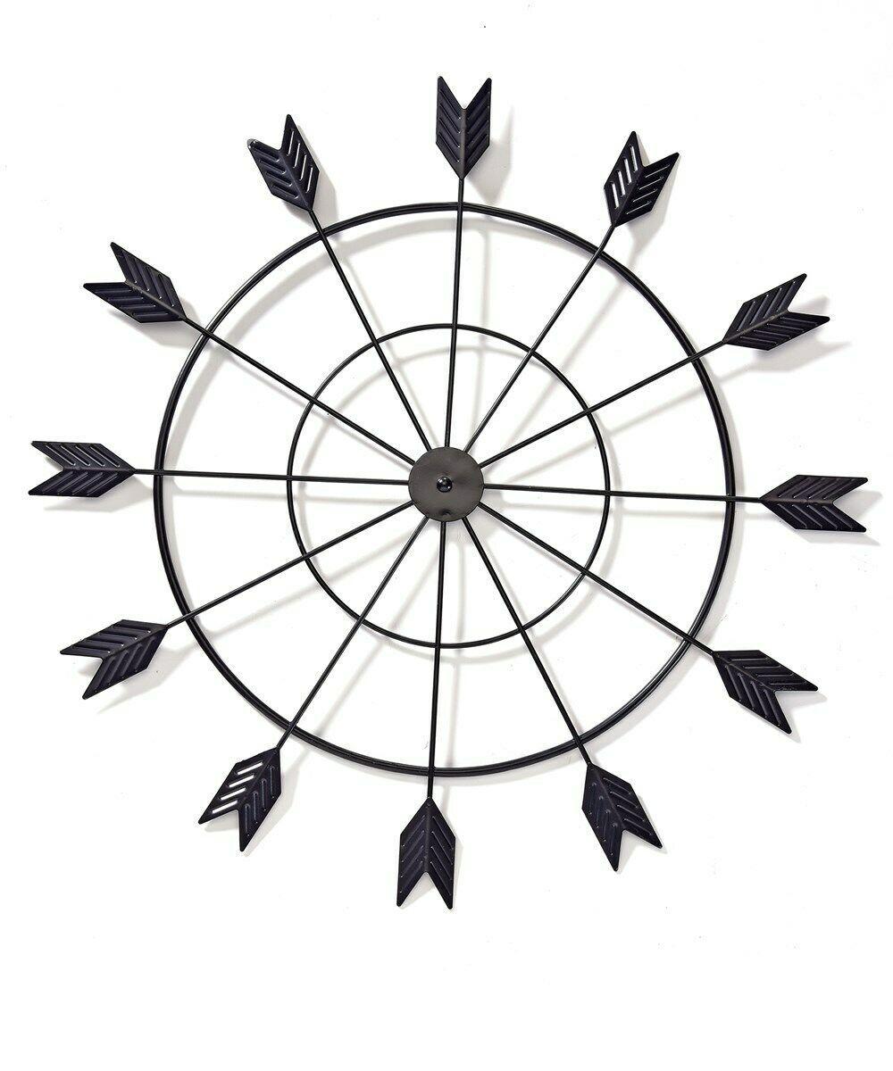 Black Arrow Metal Wall Decor - 12 Arrows