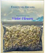 Violet Flowers 1/2 oz Organic Herbs - $4.00