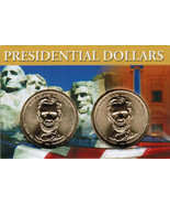 2010 Abraham Lincoln Presidential Dollar 2 coin set with holder CP4215 - $4.95