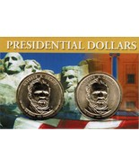 2011 Ulysses S Grant Presidential Dollar 2 coin set with holder CP4217 - $4.75