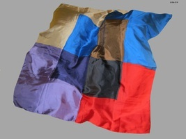 ECHO - 100% SILK - Vintage Color Block SCARF - FREE SHIPPING - $25.00
