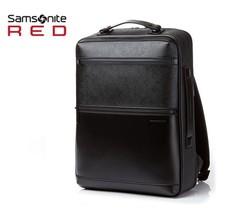 "SAMSONITE RED Hanfoi Backpack Leather Black DO009001 Laptop 15.6"" Free Shipping - $330.66"