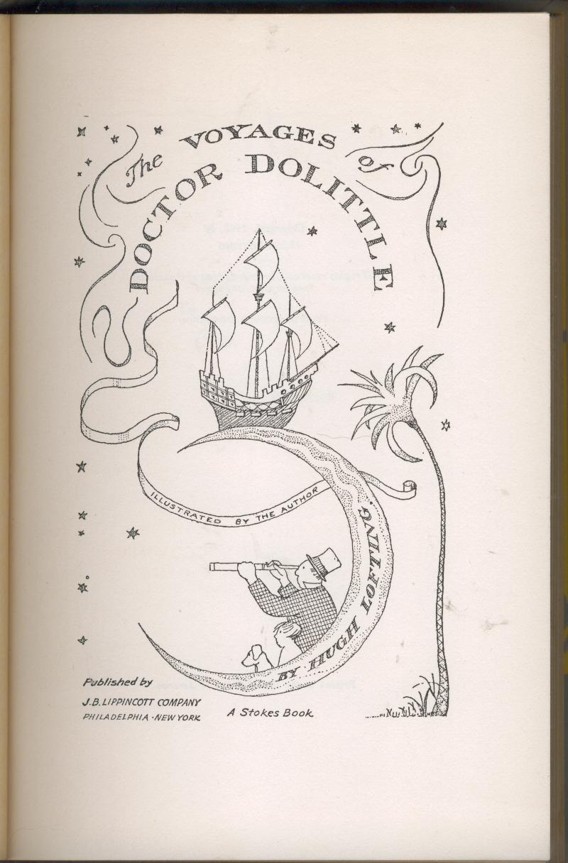 Lofting--VOYAGES OF DOCTOR DOLITTLE--later pr. of 1st--nice