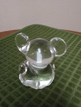 Crystal Clear Blown Glass Mouse Paperweight image 2