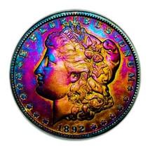 1892 O MORGAN SILVER DOLLAR * QUEST MONSTER TONING /KEY DATE* 27 - $161.70