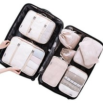 Belsmi 8 Set Packing Cubes - Waterproof Compression Travel Luggage Organ... - $488,26 MXN