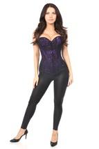 Lavish Purple Lace Overbust Zipper Front Corset ~ to Size 6XL - $68.99+
