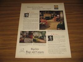 1948 Print Ad Bigelow Rugs & Carpets Quaint 1940's Home Interior - $14.94