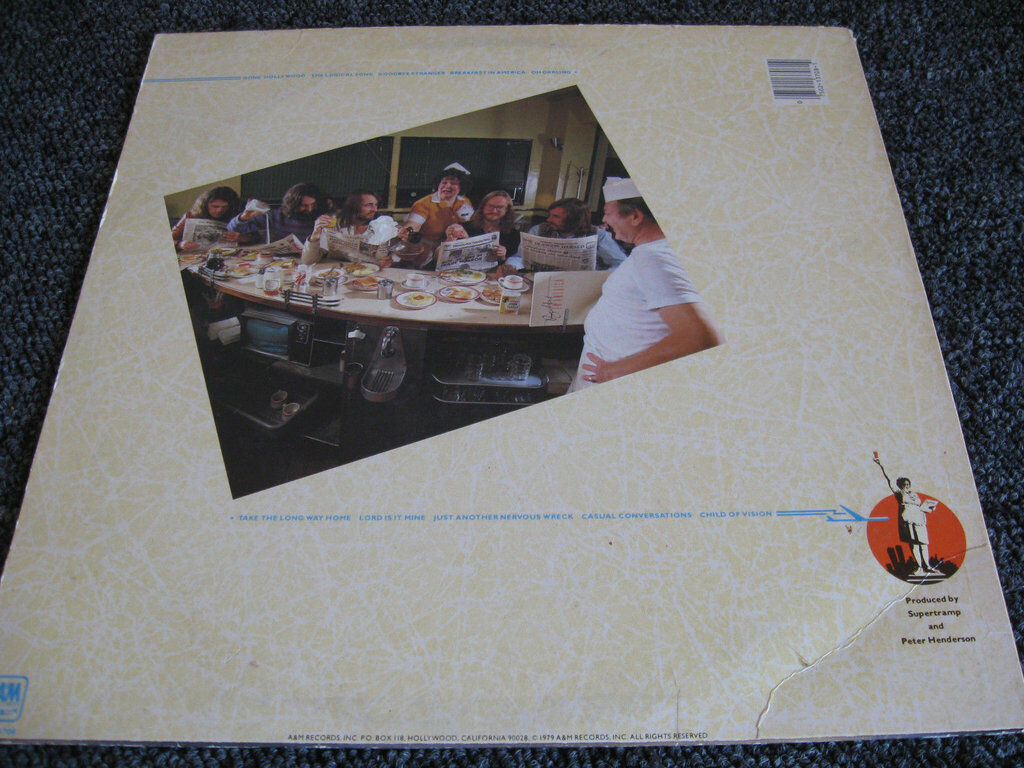 Supertramp Breakfast In America A&M SP-3708 Stereo Vinyl Record LP image 2