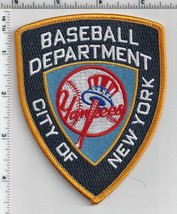 New York Yankees Baseball Department Police Style Novelty Shoulder Patch - $9.70