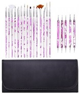 GHB Nail Art Brushes Painting Draw Dotting Pens 24 Pieces Kit Set Acryli... - $40.74