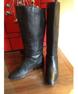 Women's Hunt Club Black Leather Riding Boots Size 8.5 M Style 199638 Pul... - $33.97