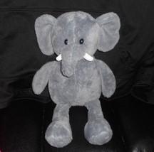 43.2cm Animale Avventura 2015 Grigio Elefante Peluche Imbottito Giocattolo Lovey - $30.73