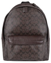 NEW Coach Men's F71973 Brown Coated Canvas Signature Campus Backpack - $289.00