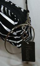 Natalie Brand 404MZE Black White Zebra Striped Clutch Removable Shoulder Strap image 4