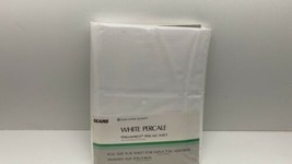 Vtg Sears White Percale Perma Prest Pecale Sheet Full Size - $12.82