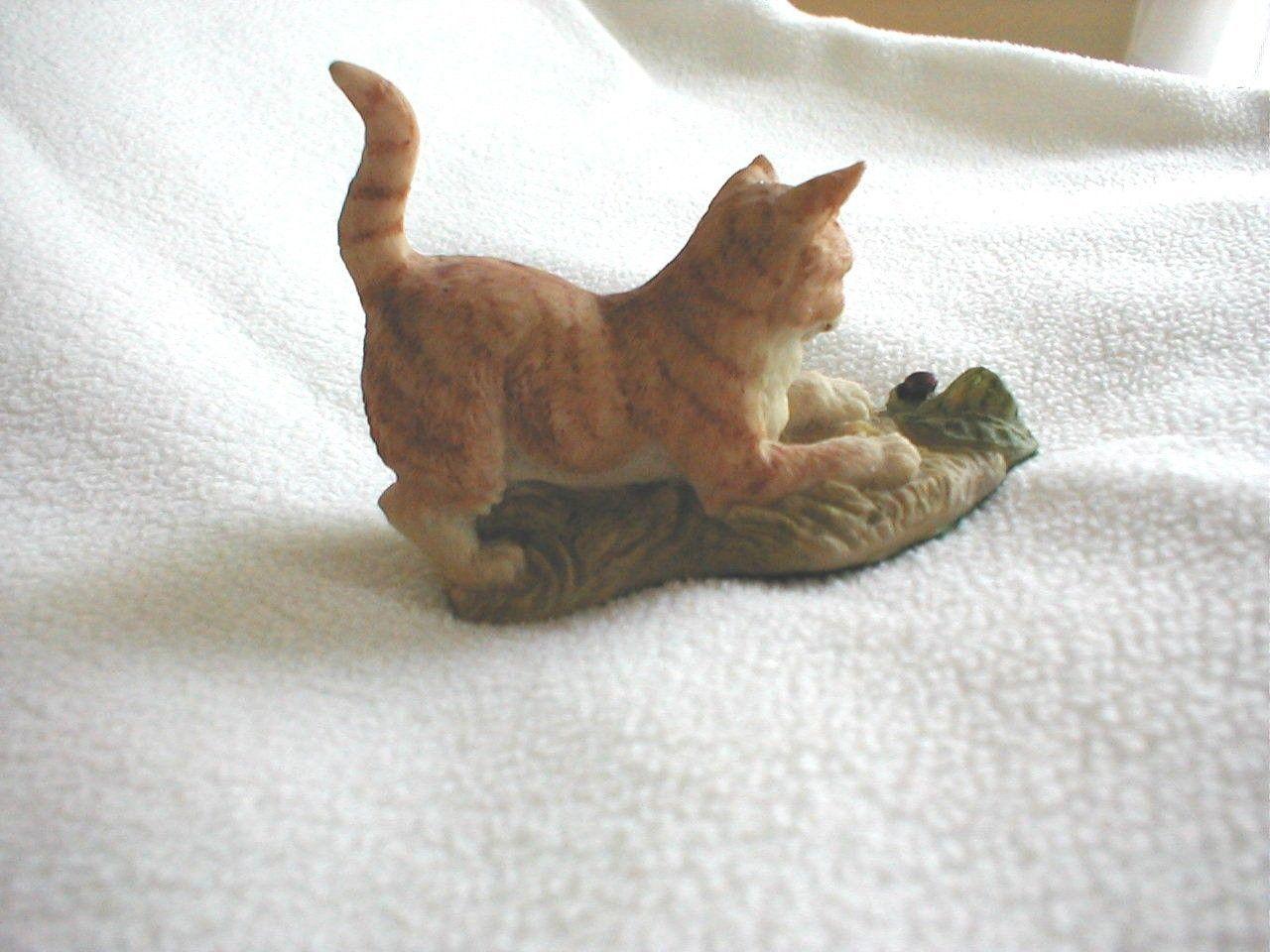 Nature's Heritage Holland Studio Craft, Cat Kitty With Ladybug !