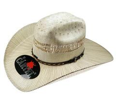 Men's Western Hat El General Sombrero 100X El Cartel Bangora Ivory/Brown - €36,88 EUR